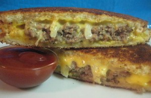 cheeseburger patty melt recipe